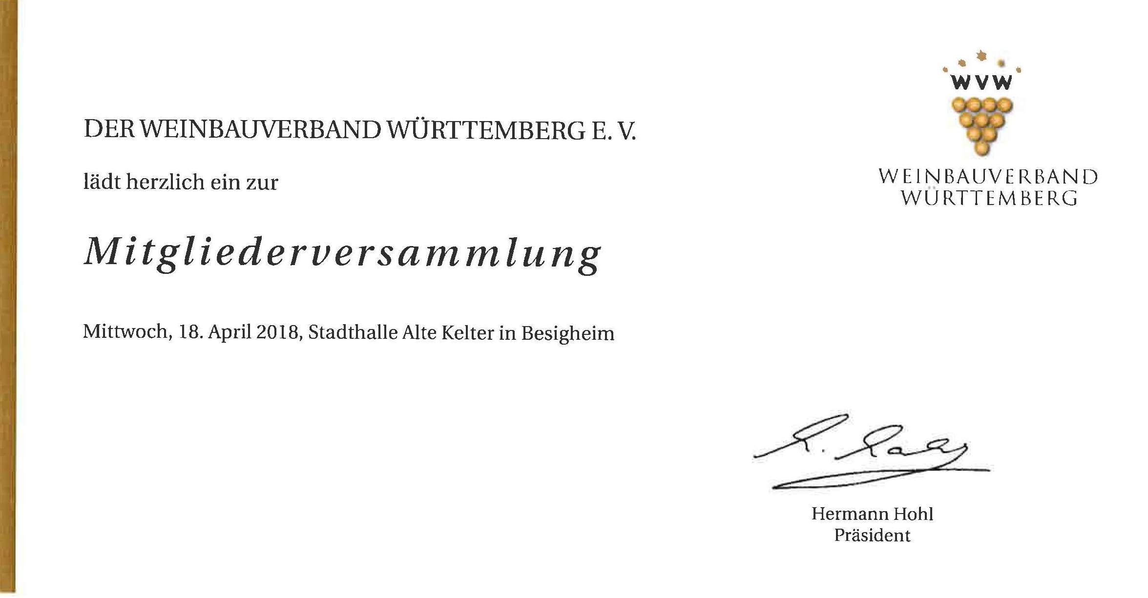 Einladung nach Besigheim