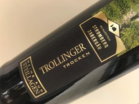 Man sieht den 2016 Kirchheimer Kirchberg Trollinger trocken der Weingärtner Stromberg-Zabergäu